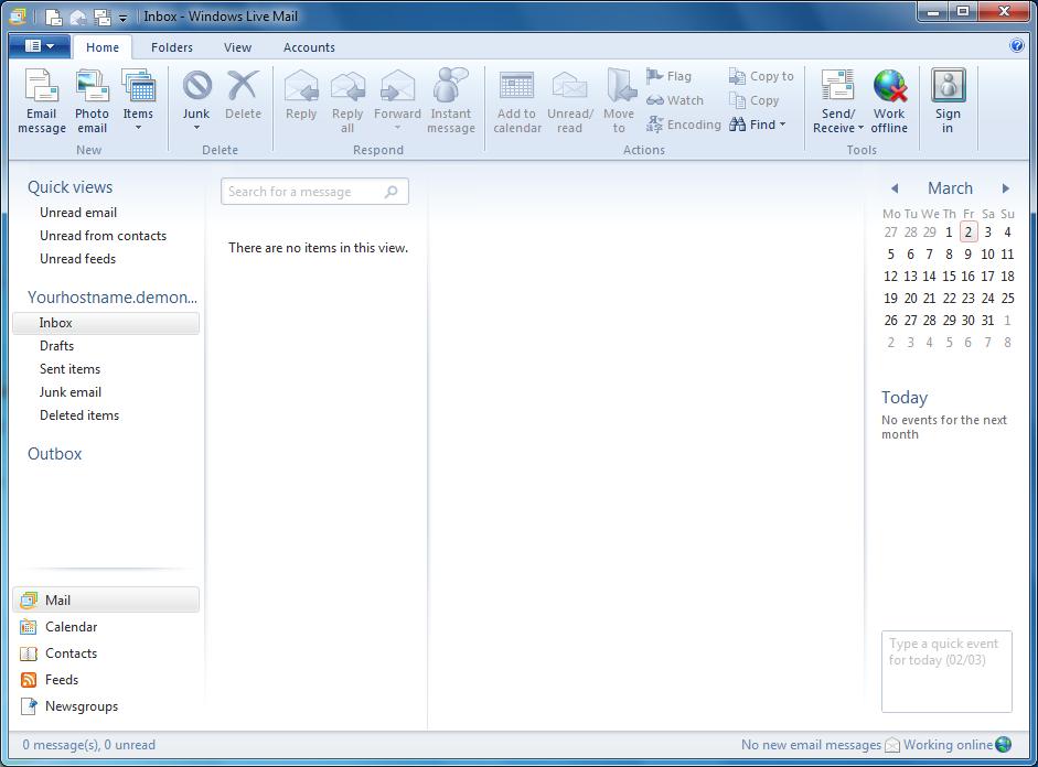 windows live mail 2012 friprog gratis programvarer. Black Bedroom Furniture Sets. Home Design Ideas